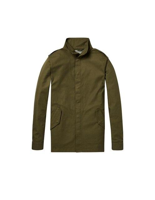 49093c03d Chamarra Scotch & Soda algodón verde militar