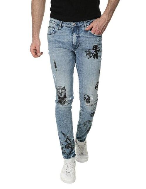 7b3be62d3b Jeans Guess corte skinny azul