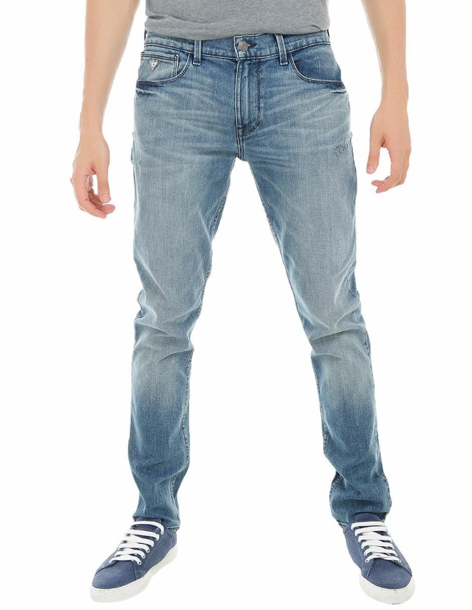 ff0551b0134cb Jeans Guess corte slim azul medio