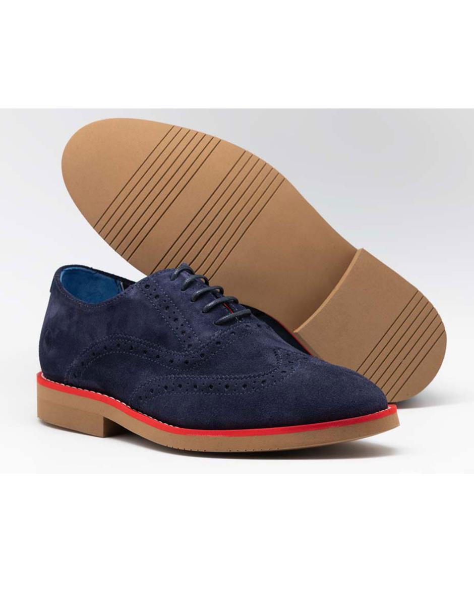 más fotos ventas especiales comprar original Zapato oxford El Ganso gamuza azul marino